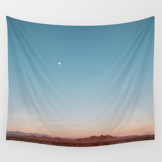 Desert Sky with Harvest Moon by losadventures