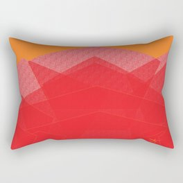 Colorful Red Abstract Mountain Rectangular Pillow
