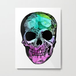 Boho Skull I Metal Print