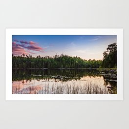 Sunset at Gunflint Lake in the Boundary Waters Art Print