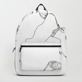 Krampus With Stick Doodle Art Backpack