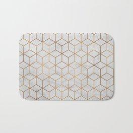 Marbled Copper Cubes Bath Mat