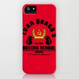 Ivan Drago's boxing school iPhone Case