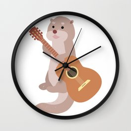 Otter Musician Guitar Guitarist Wall Clock