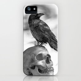 The Raven and The Skull - By Julio Lucas iPhone Case