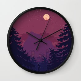 Dark Trail Wall Clock