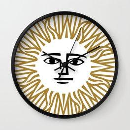 Vintage Sun Wall Clock