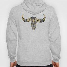 Water Buffalo Skull – Black & Gold Palette Hoody