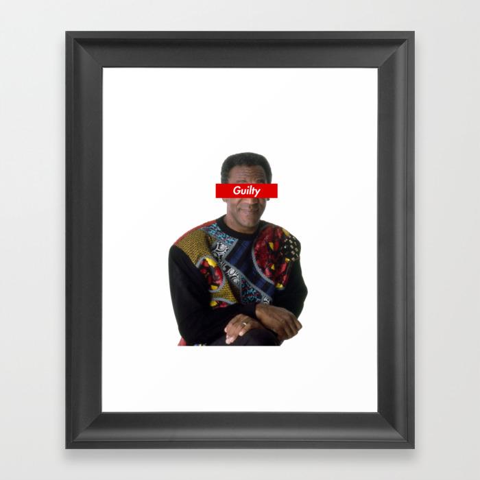Bill Cosby Guilty Framed Art Print by Ramdhancaesar FRM9044237