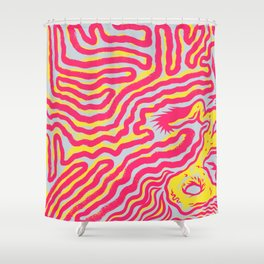 Coral Dud Shower Curtain