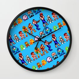 Retro gaming heroes | rgh01bs | vintage video games nostalgia Wall Clock