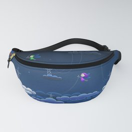 Fascinating Colorful Angel Pixies Creating Weather Fantasy UHD Fanny Pack