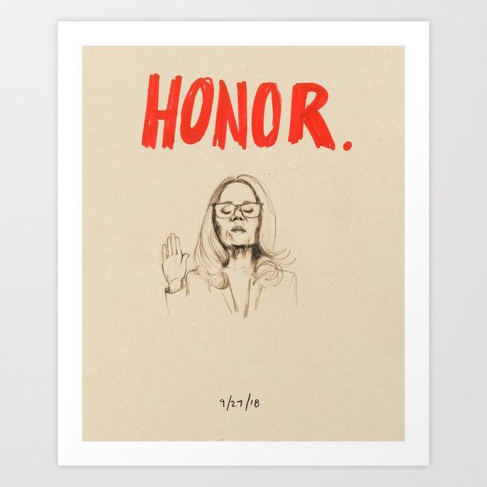 Honor Art Print