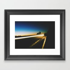 Low Light Framed Art Print