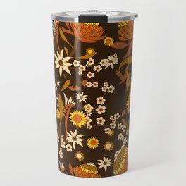 Australian Natives Wattle Gold Travel Mug