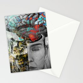 Halloween is coming Human Brain Stationery Cards
