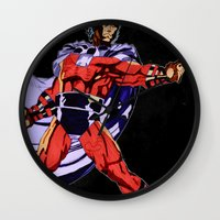 magneto Wall Clocks featuring Magneto by Joynisha Sumpter