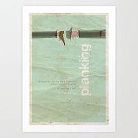 movie posters Art Prints featuring Planking - Meme Movie Posters by Stefan van Zoggel