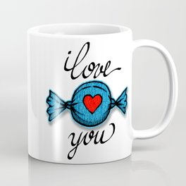 I love you (blue) Coffee Mug