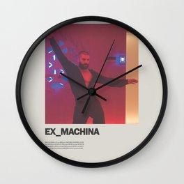 Ex Machina Minimal Movie Poster No 01 Wall Clock