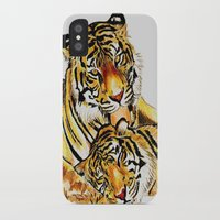 tigers iPhone & iPod Cases featuring Tigers by DrewzDesignz