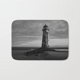 Talacre Lighthouse Black And White Bath Mat