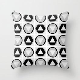 Classic Shapes Black & White Throw Pillow