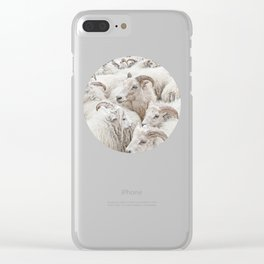 Stick Together Clear iPhone Case