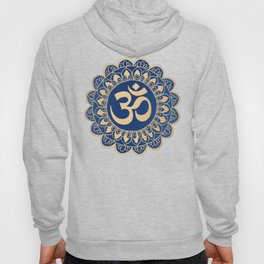 Blue and Gold Ohm Mandala Hoody