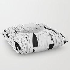 Eyes on my back - Emilie R. Floor Pillow