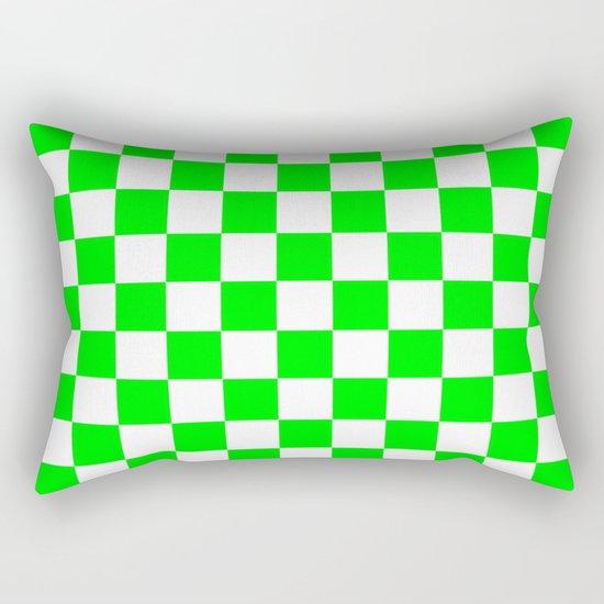 Checker (Green/White) Rectangular Pillow