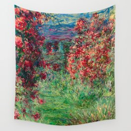 "Claude Monet ""House among the Roses"", 1925 Wall Tapestry"