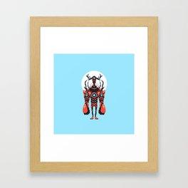 Pixel Lobster Droid Framed Art Print