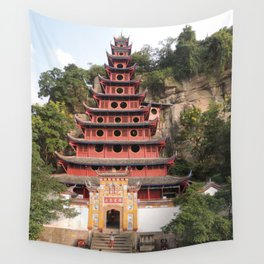 Shi Bao Zhai Buddhish temple Pagoda   Pagode Temple Buddhish Wall Tapestry