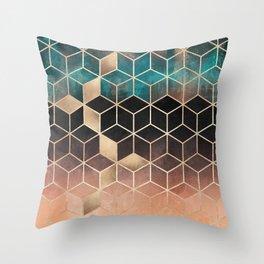 Ombre Dream Cubes Throw Pillow