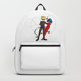 Ladybug and Chat Noir by Studinano Backpack