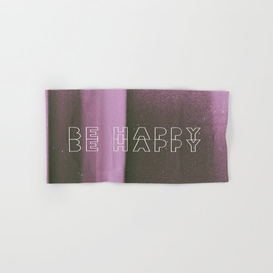 Be Happy Hand & Bath Towel