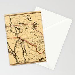 Map Of Missouri 1814 Stationery Cards