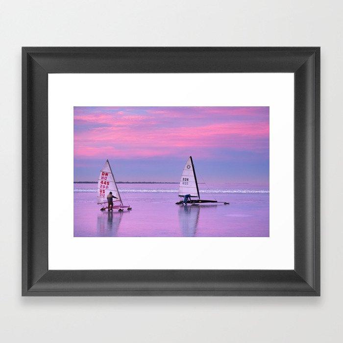 Windsurfing Winnebago Framed Art Print
