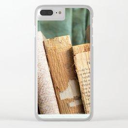 Vintage Suitcase - Textures Clear iPhone Case