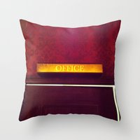 the office Throw Pillows featuring office by Love Improchori