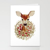fawn Stationery Cards featuring Fawn  by craftberrybush
