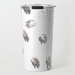 Animal Tracks Abstract Travel Mug