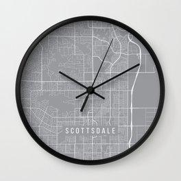 Scottsdale Map, Arizona USA - Pewter Wall Clock