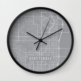 Scottsdale Map, Arizona USA - Pewter Wall Clock