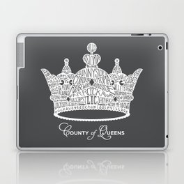 County of Queens | NYC Borough Crown (WHITE) Laptop & iPad Skin