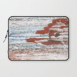 Orange blue marble wash drawing Laptop Sleeve
