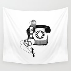 Waiting for your call Wall Tapestry