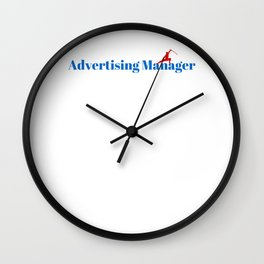Top Advertising Manager Wall Clock