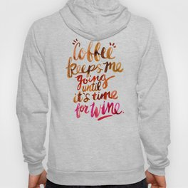 Coffee & Wine – Brown & Magenta Ombré Hoody